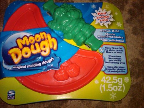 Spin Master Moon Dough Dark Red with Bonus Santa Mold 1.5oz - 1