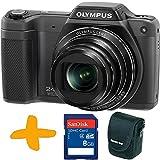 Bundle: Olympus Stylus SZ-15 Super Zoom Black Digital Camera + Sandisk 8GB SDHC Memory Card + Allcam Camera Case (16MP, 24x Wide Optical Zoom, 3 inch LCD, Intelligent Auto)