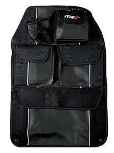 Type S AZ11824 - Organizador con bolsillos para asiento trasero (imitación de piel y rejilla), color negro de Type S