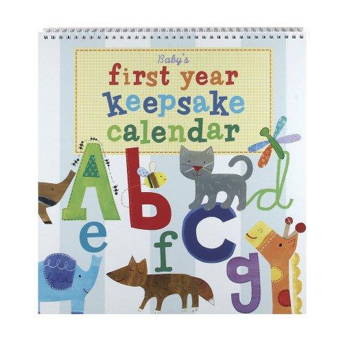 Jill McDonald Kids First Year Keepsake Calendar, Alphabet Animals - 1