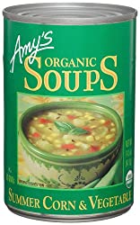 Amy's Organic Summer Corn and Vegetable Soup, 14.5-Ounce Cans (Pack of 12)