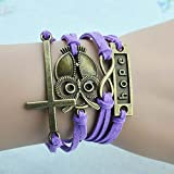 Wild Wind (TM) Religious Cross night-owl Hope Multi-Strand Wrap Bracelet