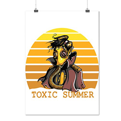 [Toxic Summer Mask Nuclear Gas Matte/Glossy Poster A3 (12x17 inches) | Wellcoda] (Halloween Costumes Poison Pixie)