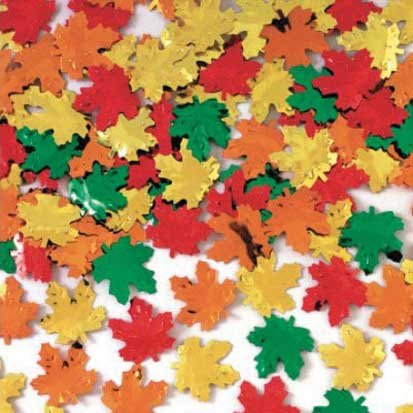 Maple Leaf Metallic Confetti 2 1/2oz