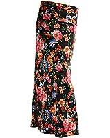 Gravity Threads Women's Fashion Designer Pattern Span Maxi Skirt