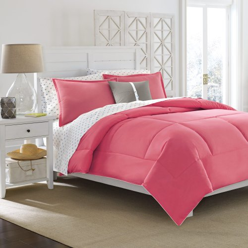 Solid Pink Twin Comforter