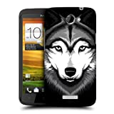 Head Case Designs Grey Wolf Big Face Illustrated Hard Back Case Cover for HTC One X
