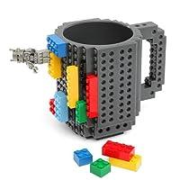 Build-On Brick Mug - BPA-free 12oz Coffee Mug (Kitchen)