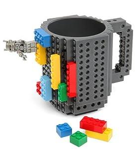 Build-On Brick Mug - BPA-free 12oz Coffee Mug by ThinkGeek