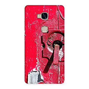 Impressive Red Door Print Back Case Cover for Huawei Honor 5X