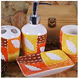 Bathroom Accessory Sets - Effect of orange clouds grade sanitary ceramics family of four / bathroom supplies 4 sets / bathroom ware