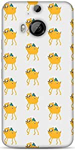 Snoogg Pixel Adventure Designer Protective Back Case Cover For HTC M9 Plus