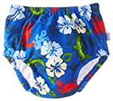 i play. Baby-Boys Infant Ultimate Swim diaper, Royal Hibiscus, Medium/6-12 Months