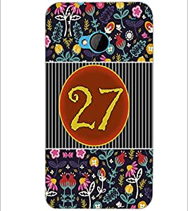 PrintDhaba Numerology Number 27 D-3116 Back Case Cover for HTC ONE M7 (Multi-Coloured)