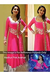 Designer Rose Pink GEORGETTE Bollywood Replica Dress.