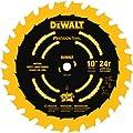DEWALT DW7124PT 10-Inch 24 Tooth ATB Ripping Saw Blade with 5/8-Inch Arbor and Tough Coat Finish by DEWALT