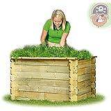 Hochbeet 150x100x82 cm aus Holz imprägniert ohne Boden von Gartenpirat®