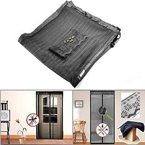 39 4 inch portable magnetic screen black curtain garden for Indoor screen door