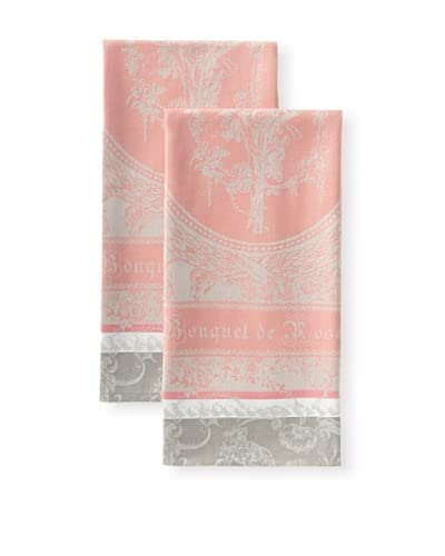 Garnier-Thiebaut Set of 2 Bouquet De Roses Kitchen Towels, Damascena