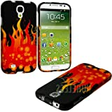"myLife (TM) Red + Yellow Fire Series (2 Piece Snap On) Hardshell Plates Case for the Samsung Galaxy S4 ""Fits Models: I9500, I9505, SPH-L720, Galaxy S IV, SGH-I337, SCH-I545, SGH-M919, SCH-R970 and Galaxy S4 LTE-A Touch Phone"" (Clip Fitted Front and Back Solid Cover Case + Rubberized Tough Armor Skin + Lifetime Warranty + Sealed Inside myLife Authorized Packaging) ""ADDITIONAL DETAILS at Amazon.com"