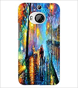 PrintDhaba Abstract Art D-1149 Back Case Cover for HTC ONE M9 PLUS (Multi-Coloured)