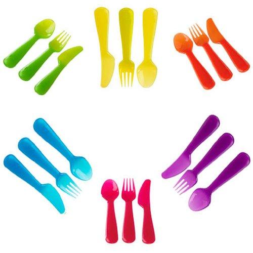 18 Pc Fork Spoon Knife For Kids Baby Children