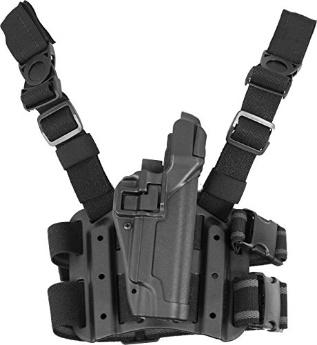 BLACKHAWK! Serpa Level 3 Tactical Black Holster, Size 03, Right Hand (Colt 1911 & Clones s/ or w/o rail)