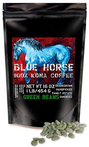 Farm-direct: 100% Kona Coffee, Green (Unroasted!) Beans, 1 Lb