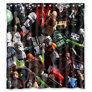 Lego star wars curtains amazon com home fashion eco friendly lego