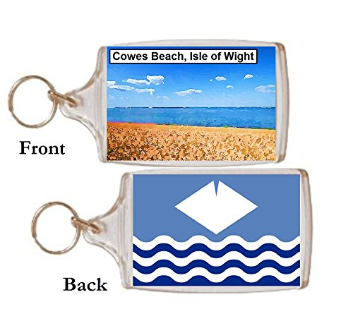 Schlüsselring Cowes Strand Wight Geschenk Tourist Souvenir