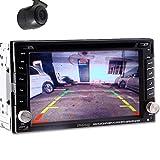 Rear Camera car GPS MAP Sat Navigation Radio Digital Touchscreen TV Bluetooth Car Stereo DVD CD Player 2 Din In deck Audio Video headunit