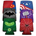Super Hero's Koozie Set of 6