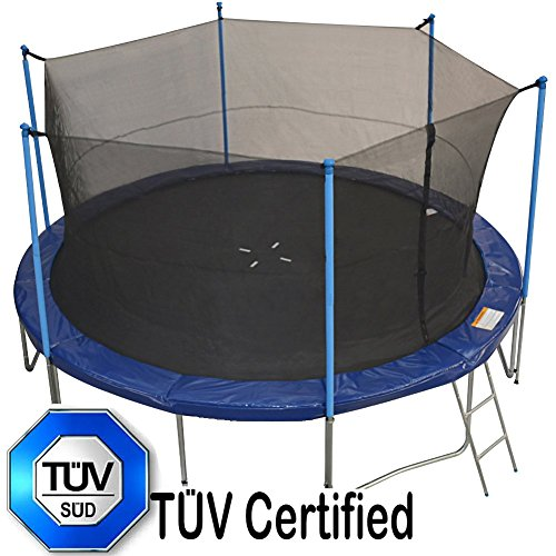 Zupapa 14 Ft Tuv Approved Trampoline With Pole And