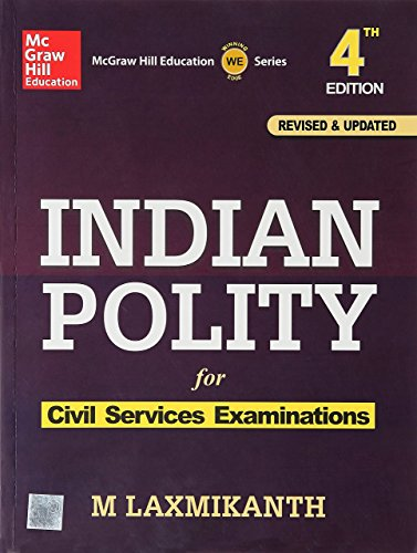 M Laxnikanth Indian Polity 4th Edition Paperback with Free Car Anti Slip...