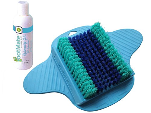 The FootMate System Foot Massager & Scrubber w/ Rejuvenating Gel, Blue (Foot Scrubber Cleaner compare prices)