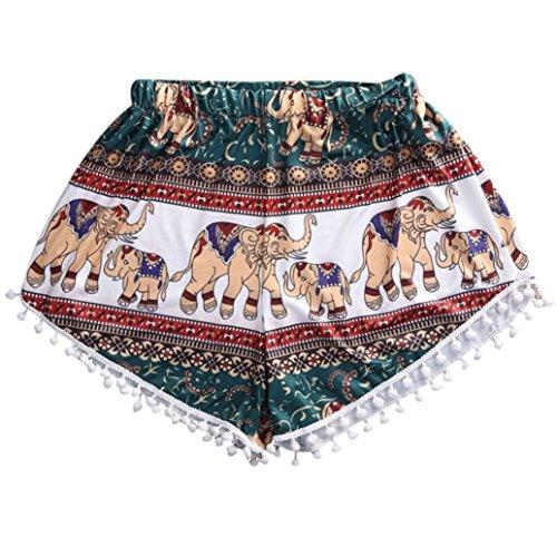 Tenworld Women Sexy Hot Pants Summer Casual Shorts High Waist Short Beach (Flapper Makeup Kit)