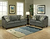 3pc Traditional Modern Fabric Sleeper Sofa Set, BN-MEL-S1
