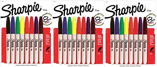 sharpie-permanent-marker-fine-tip-30217pp-8-count-pack-of-3-24-markers-total