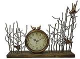 Lulu Decor, Chirping Bird Table Clock, Size 21 , Perfect for Housewarming.