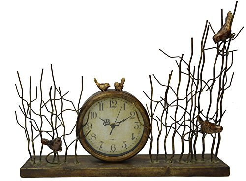 Lulu Decor, Chirping Bird Table Clock, Size 21, Perfect for Housewarming.
