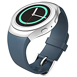 Gear S2 Watch Band, MoKo Soft Silicone Replacement Sport Band for Samsung Galaxy Gear S2 Smart Watch - Sea BLUE (Not Fit Gear S2 Classic SM-7320 version)