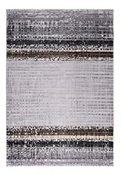 CT RUGS Contemporary Graphic Grey Area Rug 6\'7\'\'x9\'6\'\'