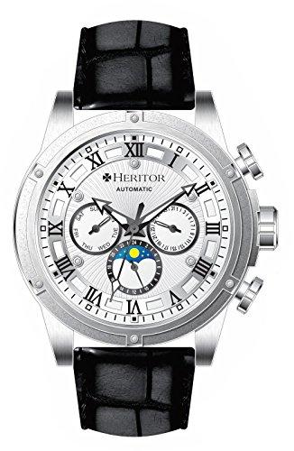 Heritor Automatic Men's Kinser Strap Watch, Silver, Standard