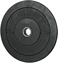 Wright 25 Lb Solid Rubber Bumper Weights - Great  Cross Training amp Olympic Lifting - Sold in Pairs