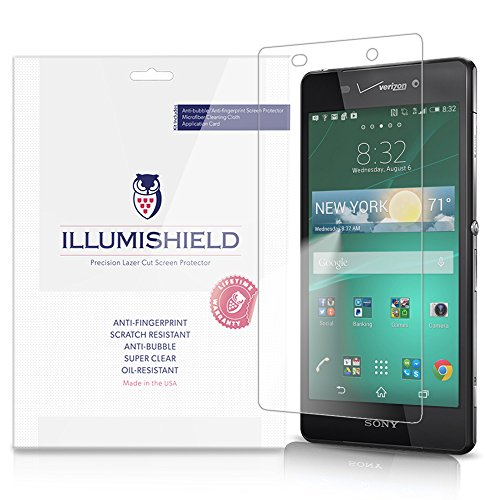 Illumishield - Sony Xperia Z3V Screen Protector With Lifetime Replacement Warranty - Japanese Ultra Clear Hd Film With Anti-Bubble And Anti-Fingerprint - High Quality (Invisible) Lcd Shield - [3-Pack] Oem / Retail Packaging