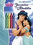 Jasmine and Aladdin Chunky Crayon with Stickers Book (Disney Princess) (Color Plus Chunky Crayons)