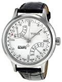 Timex Women's T2N570 Intelligent Quartz T Series Perpetual Calendar White Dial Black Croco Leather Strap Watch