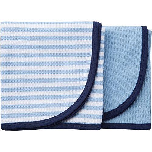 Gerber 2-Pack Boy Thermal Receiving Blanket Blue