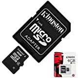 BRAND NEW 100% GENUINE ORIGINAL KINGSTONE 4GB 4 GB MICROSD STORAGE MICRO-SD SDHC TF MEMORY CARD + ADAPTER FOR SAMSUNG GALAXY WAVE Y S5380 BEAM Y PRO DUOS