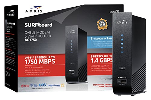 ARRIS SURFboard SBG7580AC Docsis 3.0 Cable Modem/ Wi-Fi AC1750 Router
